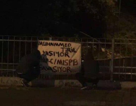 İstanbul'da birçok noktaya MLSPB şehitleri için pankartlar asıldı