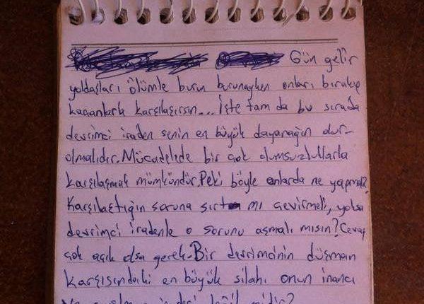 Mahir Arpaçay'ın yazdığı yazı DEVRİMCİ İRADE!-1